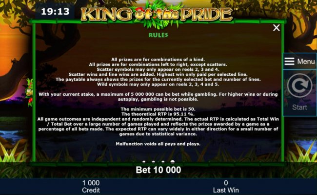 Free Slots 247 image of King of the Pride