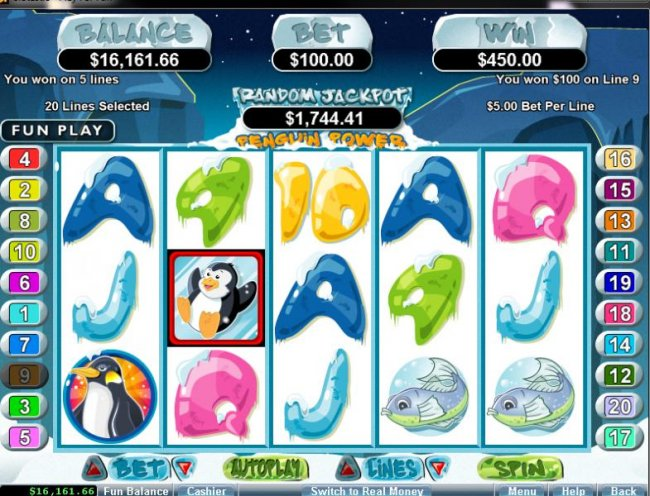 Penguin Power by Free Slots 247