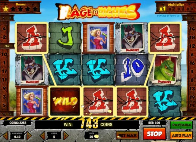 five of a kind triggers a 750 coin jackpot - Free Slots 247