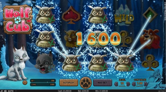 Free Slots 247 - Multiple winning paylines triggers a 1,600.00 big win!