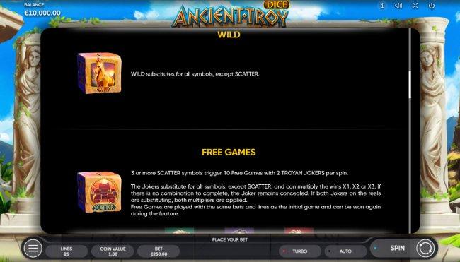 Ancient Troy Dice screenshot