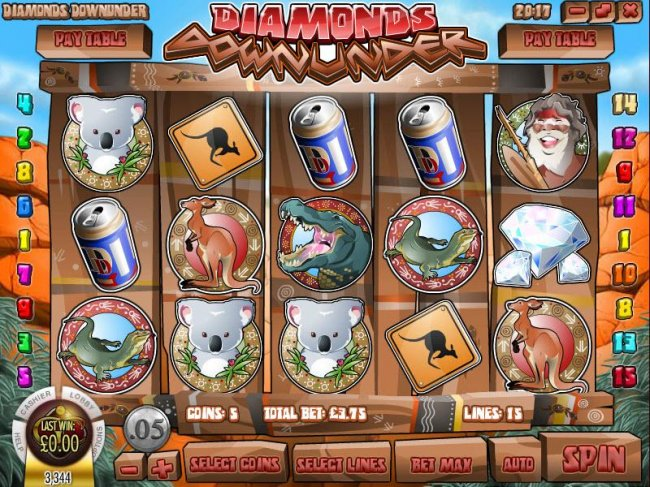 Free Slots 247 image of Diamonds Downunder