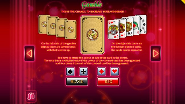 Gamble Feature Rules by Free Slots 247