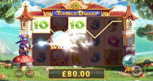 The Dwarf will randomly charge the reels with a multiplier. by Free Slots 247
