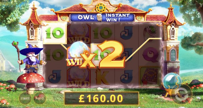 x2 multiplier increasing the payout to 160.00. - Free Slots 247