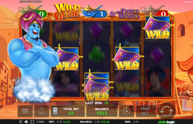 Wild feature activated by Free Slots 247