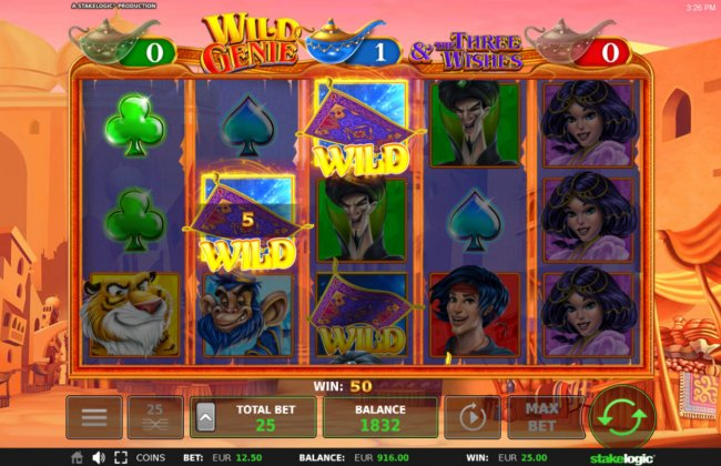 Multiple winning paylines triggered by wild feature by Free Slots 247