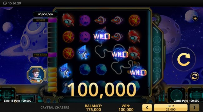 A five of a kind win by Free Slots 247