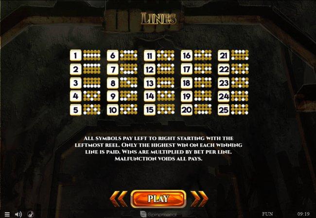 Paylines 1-25 - Free Slots 247