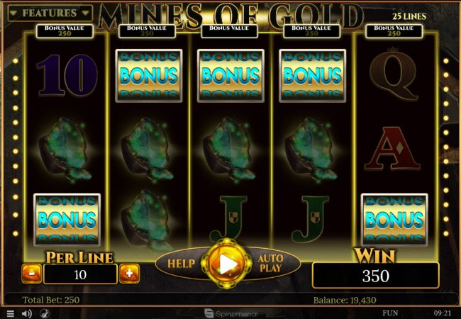 Free Slots 247 image of Mines of Gold