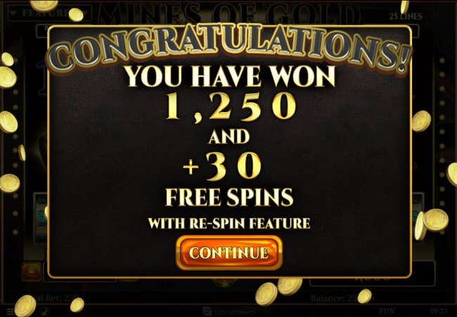 30 Free Spins Awarded by Free Slots 247
