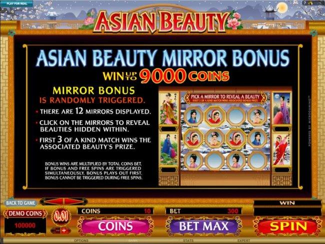 Mirror Bonus is randomly triggered by Free Slots 247