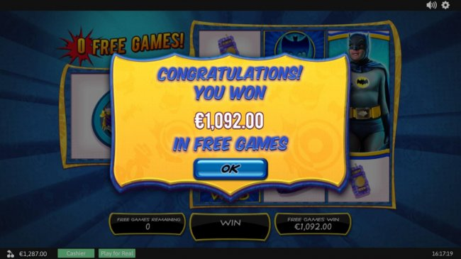 Free Slots 247 - Free Games total pay out is 1,092.50
