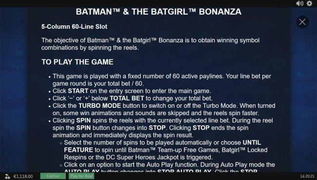 Free Slots 247 image of Batman and The Batgirl Bonanza