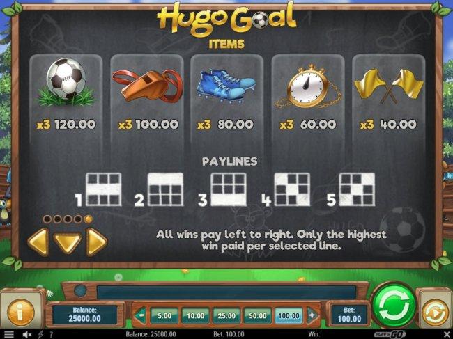 Hugo Goal screenshot