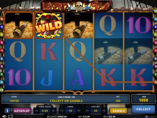 Free Slots 247 - An 1050 coin jackpot triggered by multiple winning symbol combinations.
