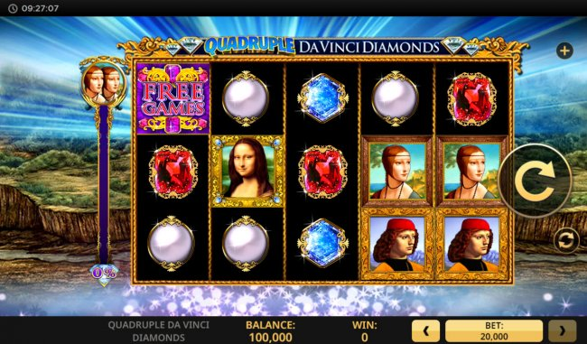 Free Slots 247 image of Quadruple Da Vinci Diamonds
