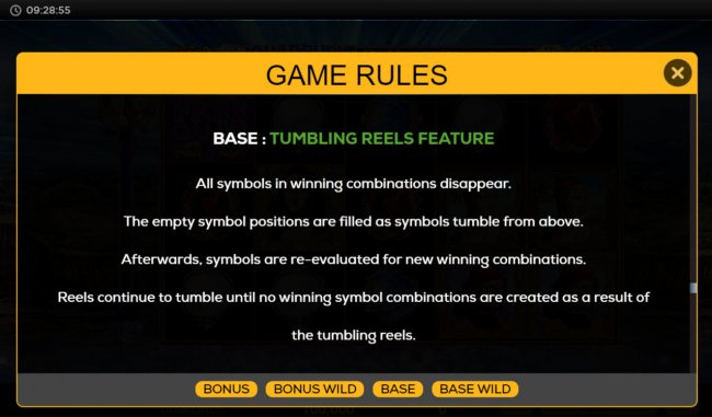 Tumbling Reels Feature - Free Slots 247
