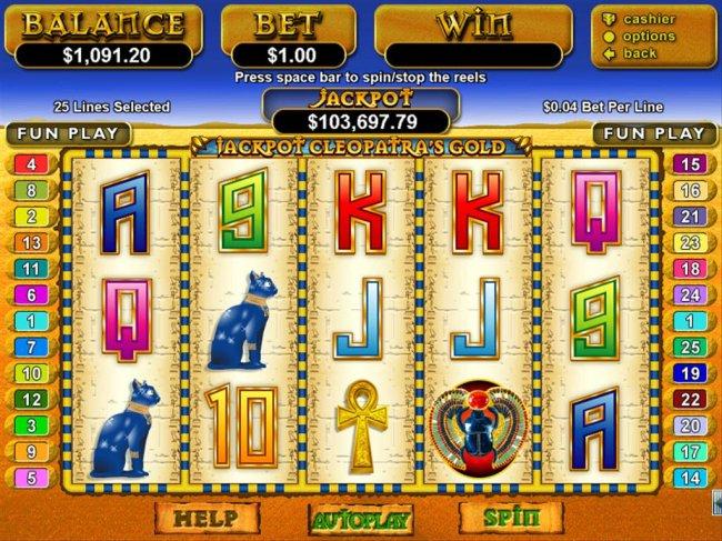 Jackpot Cleopatra's Gold screenshot