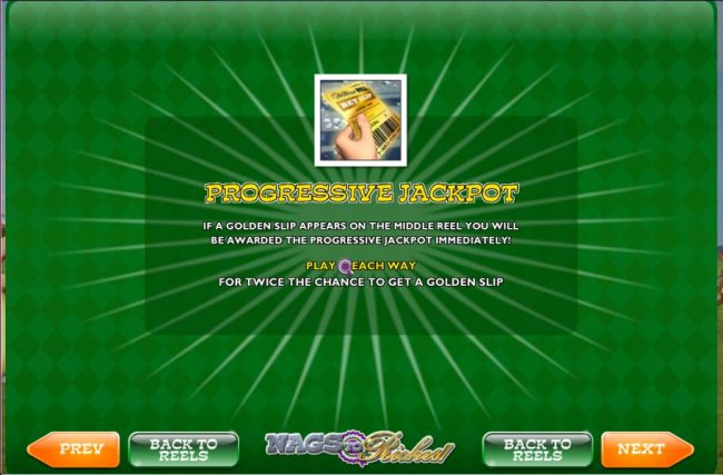 prgressive jackpot, if a golden slp appears on the middle reel you will be awarded the progressive jackpot immediately by Free Slots 247