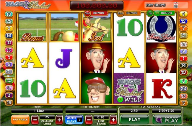 Free Slots 247 - here is a horse race underway