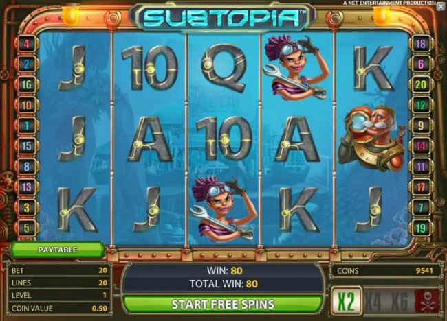 Free Slots 247 - free spins feature game board