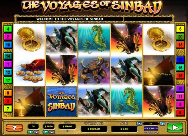 Free Slots 247 image of The Voyages of Sinbad