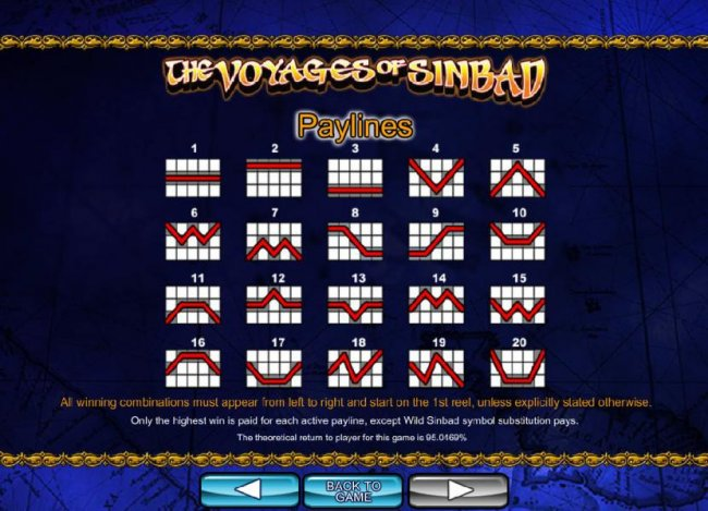 Free Slots 247 - Payline Diagrams 1-20