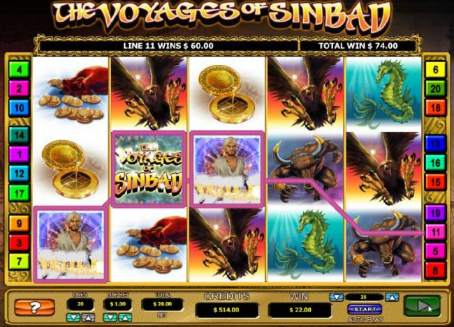 The Voyages of Sinbad by Free Slots 247