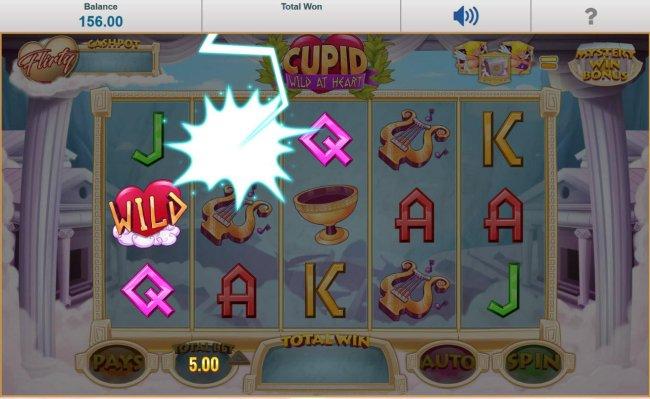 The Love Struck Winspin bonus triggers lightning to randomly strike game symbols, changing them into wilds. - Free Slots 247