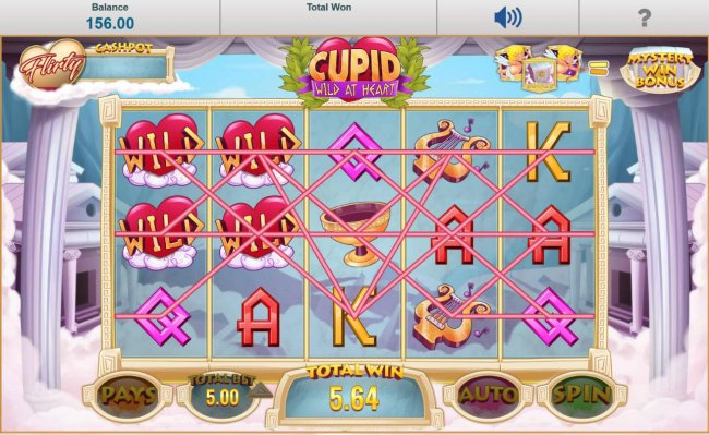 The Love Struck Winspin feature triggers multiple winning paylines. by Free Slots 247