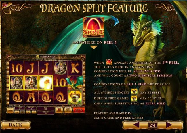 dragon split feature rules and how to play by Free Slots 247