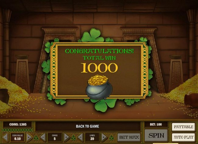 1000 coins awarded during bonus feature by Free Slots 247