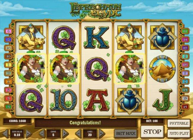 Free Slots 247 image of Leprechaun goes Egypt