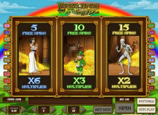 choose your free spins feature by Free Slots 247