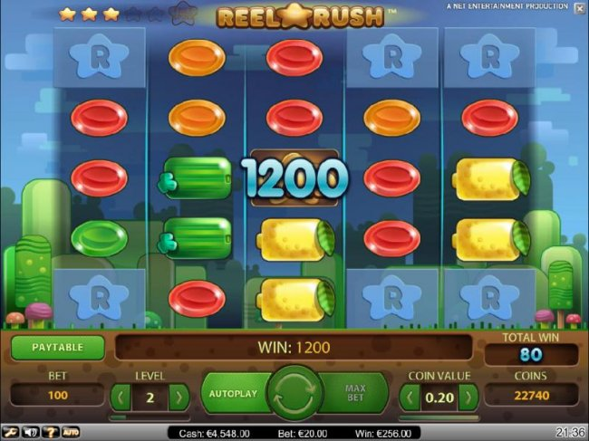 1200 coin jackpot triggered after multiple re-spins - Free Slots 247