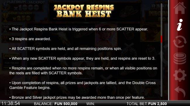 Free Slots 247 - Jackpot Respins Bank Heist