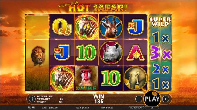 Free Slots 247 image of Hot Safari
