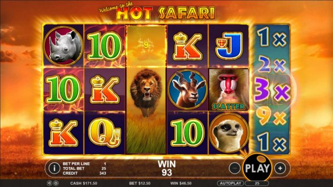 Another big win triggered by expanded wild symbol and 3x multiplier - Free Slots 247