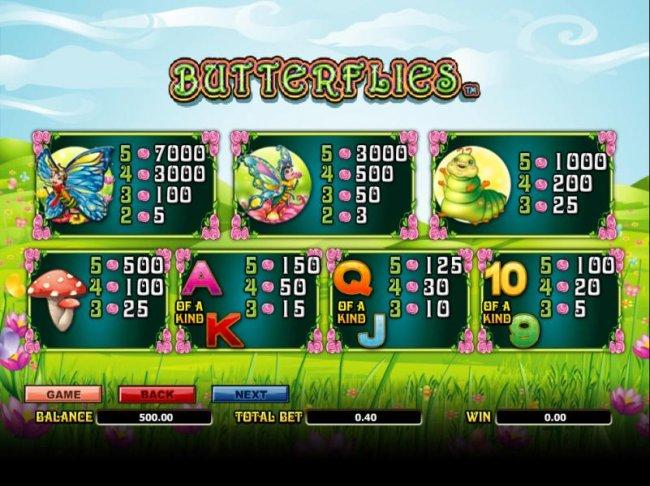Butterflies screenshot