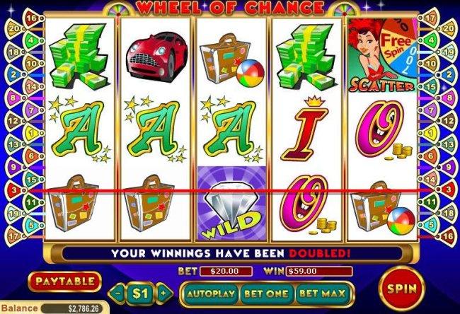 Wheel of Chance 5 Reel screenshot