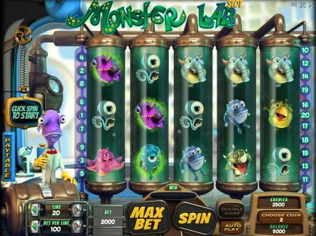 Main game board featuring five reels and 20 paylines with a $100,000 max payout. by Free Slots 247