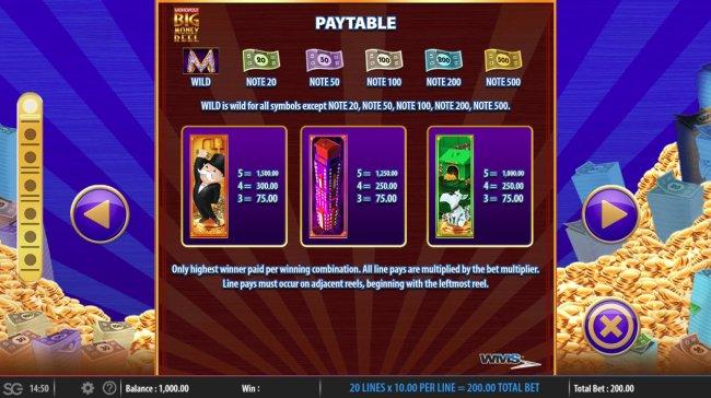 Images of Monopoly Big Money Reel