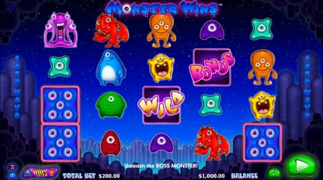 Free Slots 247 - Main game board featuring five reels and 1024 winning combinations with a $10,000 max payout
