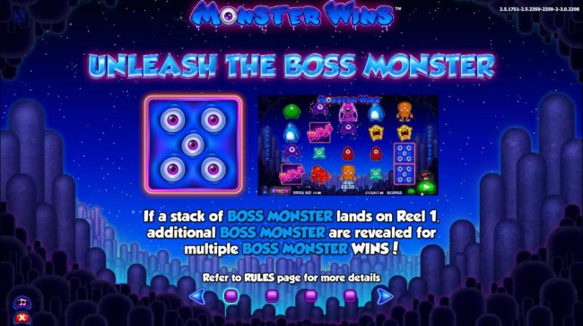 Unleash the Boss Monster - If a stack of Boss Monster lands on reel 1, additional Boss Monster are revealed for multiple Boss Monster wins! by Free Slots 247