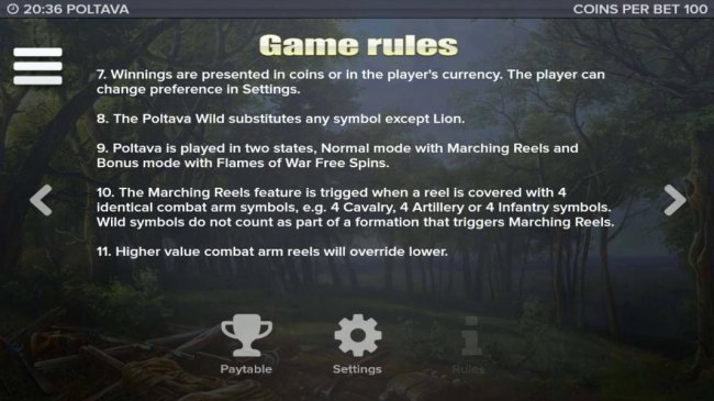 Free Slots 247 - General game rules 7 to 11