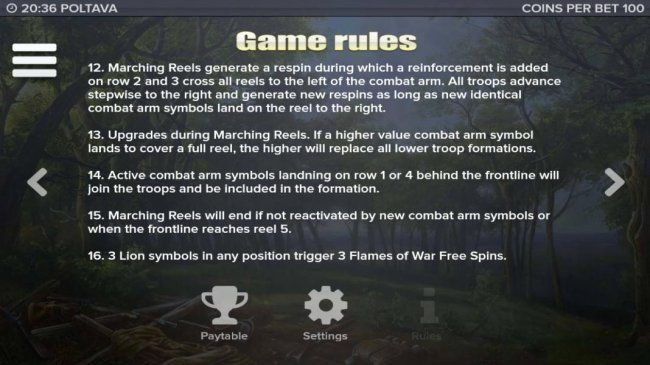 General game rules 12 to 16 by Free Slots 247