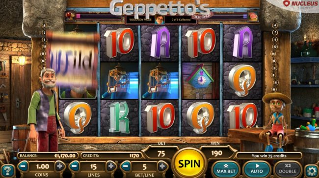 Geppetto's Toy Shop by Free Slots 247