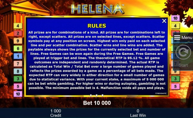 General Game Rules - The theoretical average return to player (RTP) is 95.12%. - Free Slots 247
