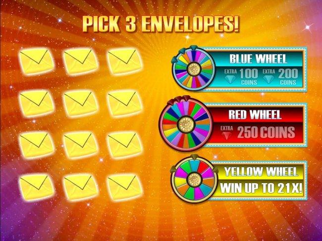Pick 3 envelopes. - Free Slots 247